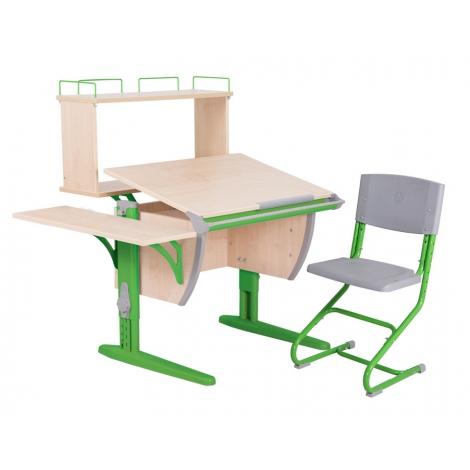 СУТ14-02-Д зеленый/клен со стулом СУТ01