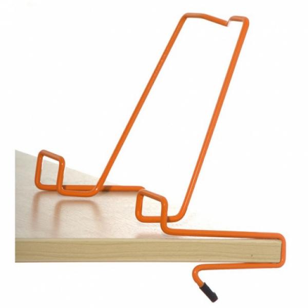 Подставка для книг металлическая ДЭМИ, оранжевая